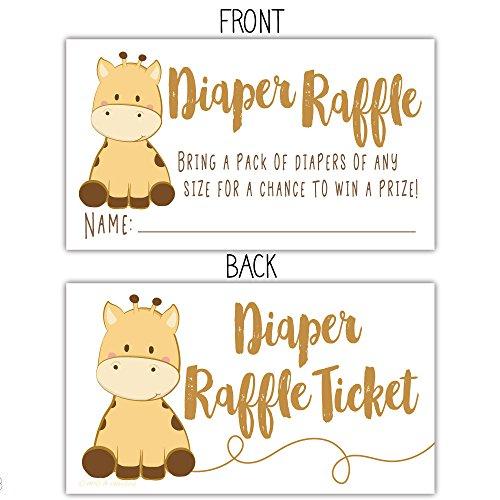 50 Sweet Dot Diaper Raffle Tickets For Baby Shower Invitation Inserts Gender Neu