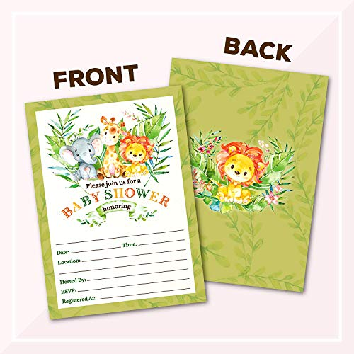 Invitations Deluxe Safari Jungle Baby Shower Invitations
